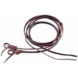 "5/8""BCL"" Herman Oak Heavy Waterloop Reins"